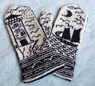 Errata(corrected in pattern version 23April2014): Lighthouse mitten, Row 69 st 31 should be white.