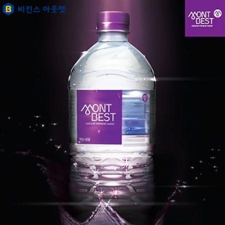 [한국청정음료] 몽베스트 생수 1리터x12개