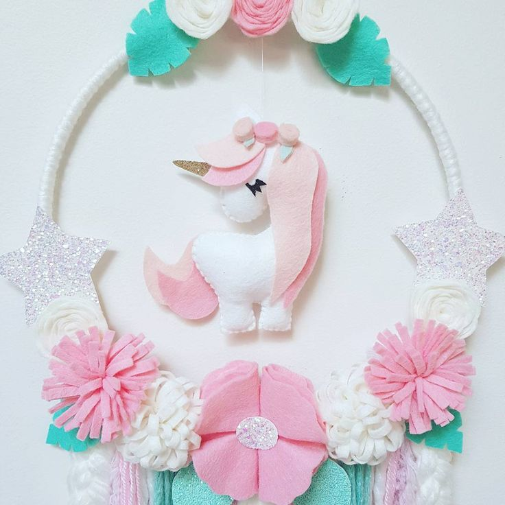 "19 Likes, 2 Comments - Enchanted Felt Shop (@enchanted_felt_shop) on Instagram: ""Unicorn Dream Catcher Now up for sale in the etsy shop …"""