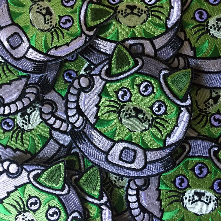 NFS x Sam Dunn Alien Cat patch now available at www.nofitstate.co.   The pin of the same design will be available early January.