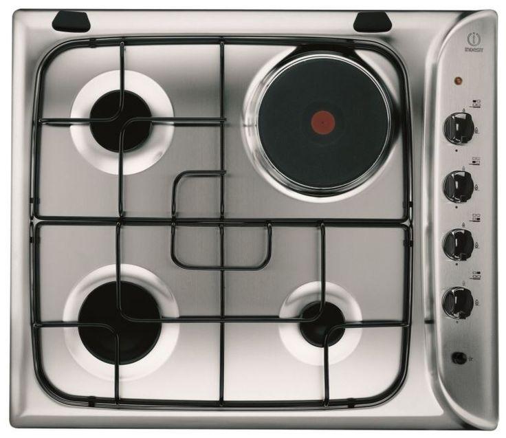 Встраиваемая газовая варочная панель: 75+ стильных и мультифункциональных решений  для кухни http://happymodern.ru/varochnaya-panel-gazovaya-4-konforochnaya-vstraivaemaya/ Четырехконфорная плита Indesit с одной электрической конфоркой с максимально быстрым нагреванием