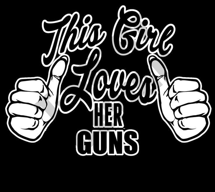 This Girl Loves Her Guns - PNG T-shirt design by MugsAndAccessories on Etsy
