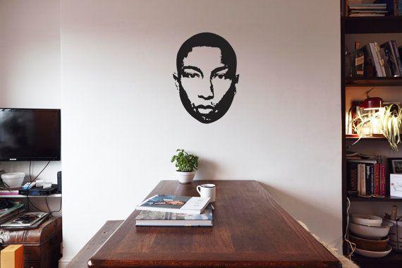 Pharrell  Vinyl Wall Decoration  NERD Pharrell by IconicWalls