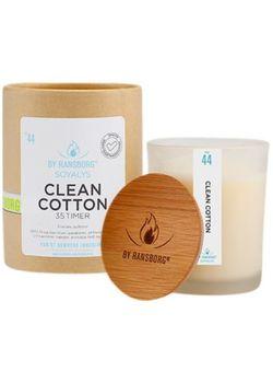 Soya duftlys clean cotton med bambuslåg , 210g. 130,50 DKK