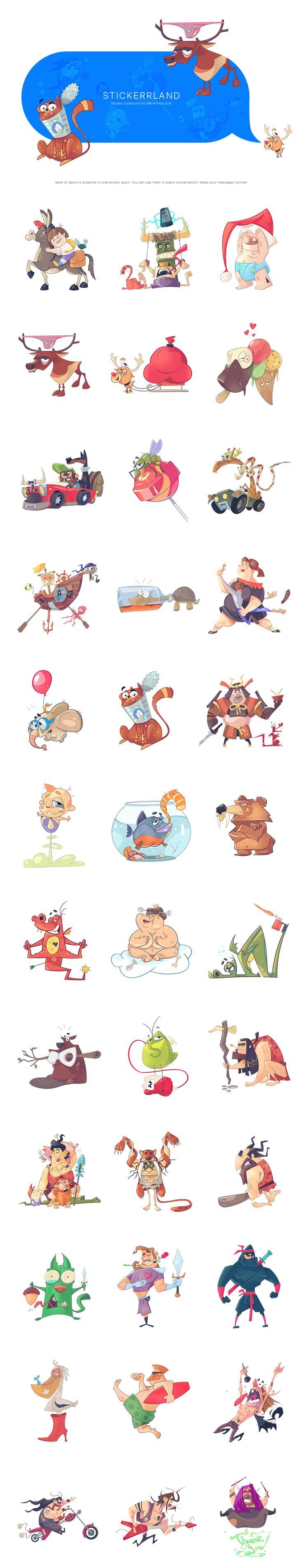 StickerrLand, Иллюстрация © СвиленПетров