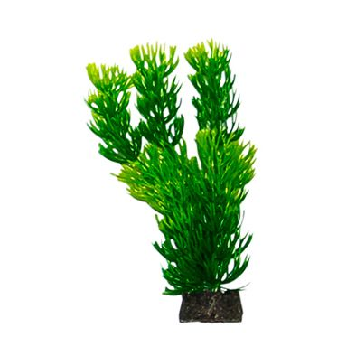 PS+ 5 inch Plastic Foxtail Plant, Green