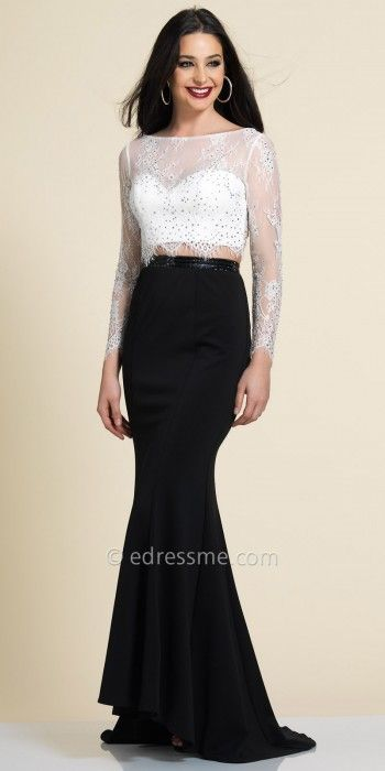 1000  ideas about Two Piece Evening Dresses on Pinterest - Modest ...