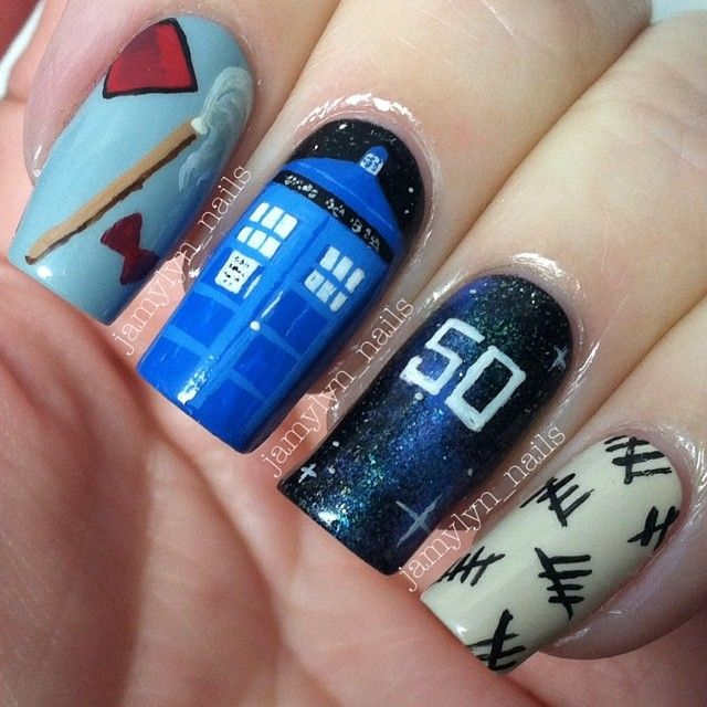 113 best my nails ig jamylynnails images on pinterest nail doctor who nails doctorwho doctorwhonails tardis prinsesfo Gallery