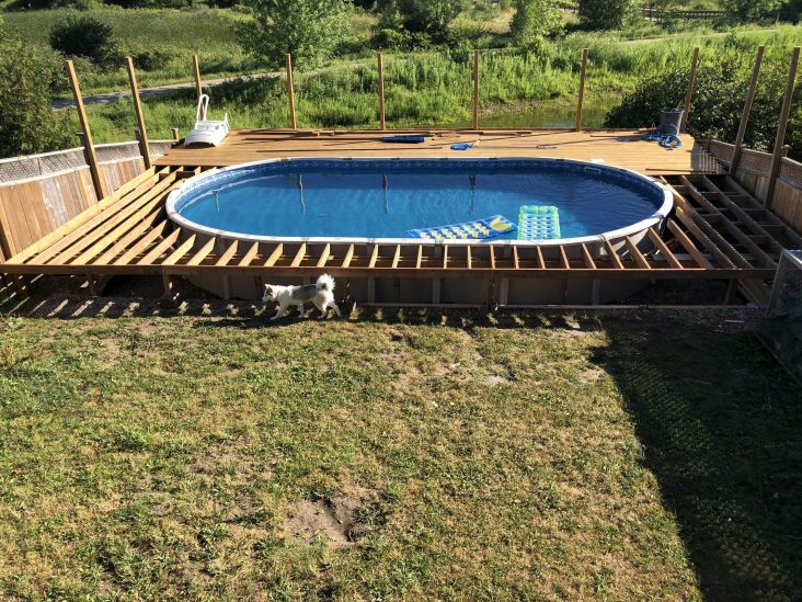 21 Inspirations Oval Above Ground Pool Deck Plans Recofunghi Com Oval Above Ground Pools Pool Deck Plans Outdoor Pool Area
