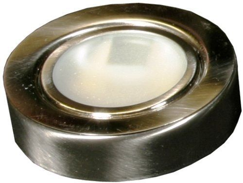American Lighting 044-12-BS Under Cabinet Puck Lighting Kit, 20-Watt Xenon Lamp, Brushed Steel by American Lighting. $22.95. From the Manufacturer                American Lighting single 12 volt, steel, 20 watt xenon puck light kit, 72-inch cord, brushed steel #044-12-BS, multi purpose, energy efficient lighting that lasts four times longer than a halogen bulb, 12Volt Xenon Puck Light Kits are packaged with various quantities, single, 2 light and 3 light for maximum ve...