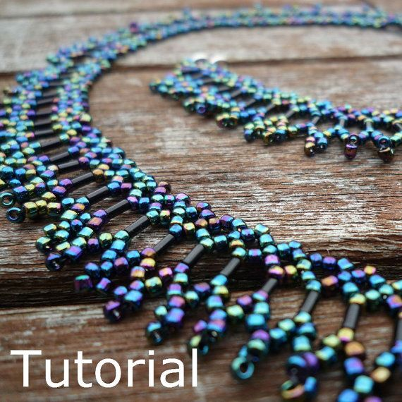 Simple Necklace Beadwork Pattern/Tutorial  Instant by BearlyBeaded, £3.50