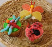 "Cupcakes - how cute would it be to do a ""bugs and butterflies"" party for the kids?"