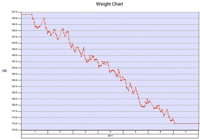 http://www.howcaniloseunwantedfat.com I officially began the paleo diet on January 10, 2011, and weighed 156.5 pounds on that day. I followed that diet for 6 months, and I lost 49.3 pounds in that period.  Modus operandi:  - Avoided carbs