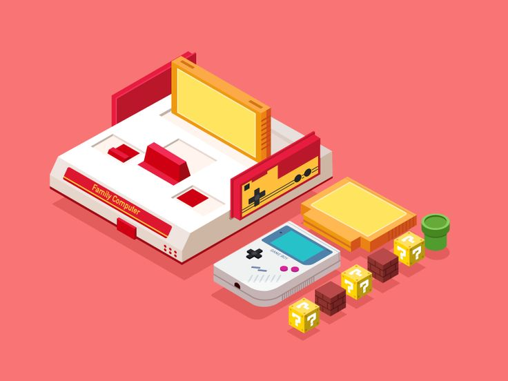 Nintendo—classic game consoles by Hermes Strange - Dribbble