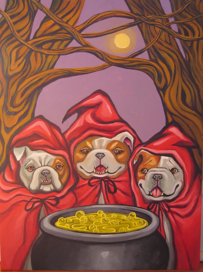 Shakespeare Bulldog Auction « Rose of Athens Theatre A generous and talented artist painted a series of Shakespearean Bulldogs and donated them to Rose of Athens Theatre, since we are in Bulldawg Nation and the Classic City. Click the Pin to see your favorite Shake Characters and how you could bid or donate to win!