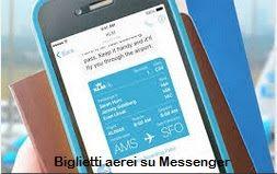Biglietti Aerei su Messenger Grazie a Facebook