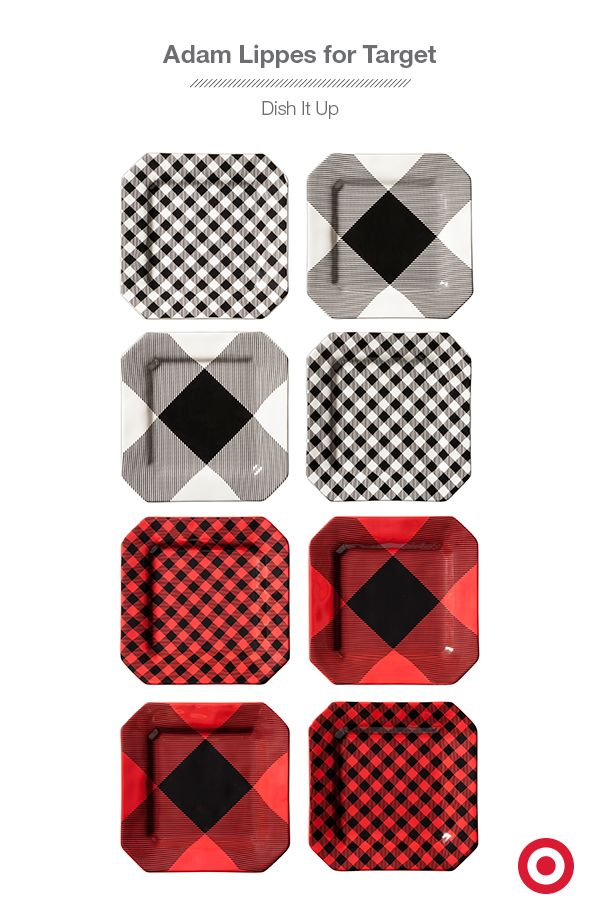 minimalist living essentials with a fun twist on classic plaid these plates from adam