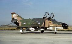 USAF McDonnell Douglas F-4G Phantom Wild Weasel taxies by.