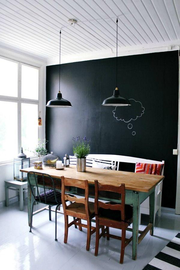 Schoolbordverf op je muur