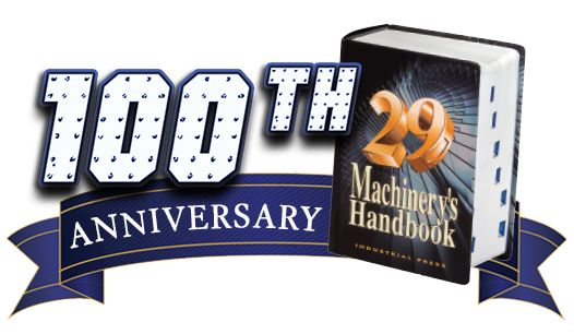 Machinery's Handbook 100th Anniversary Banner