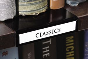 Book shelf labels! I didn't know these existed! And to think, I've been using cropped Post-Its.