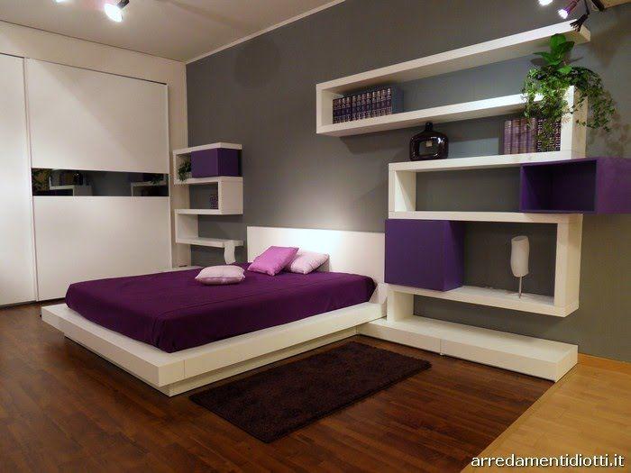 Decoracion Dise o  Dormitorio moderno y minimalista que usa paredes blancas  y grises   Purple Bedroom DesignPurple. The 55 best images about Bedrooms on Pinterest   Beautiful homes