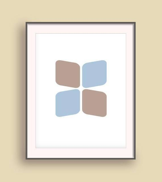 Geometric posters Nordic print art Up minimalist poster