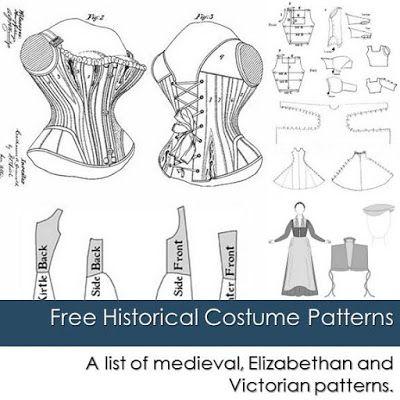 Houppelande Pattern | ... patterns including medieval, Elizabethan and Victorian patterns