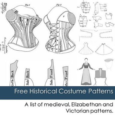 Houppelande Pattern | ... patterns including medieval, Elizabethan and Victorian patterns