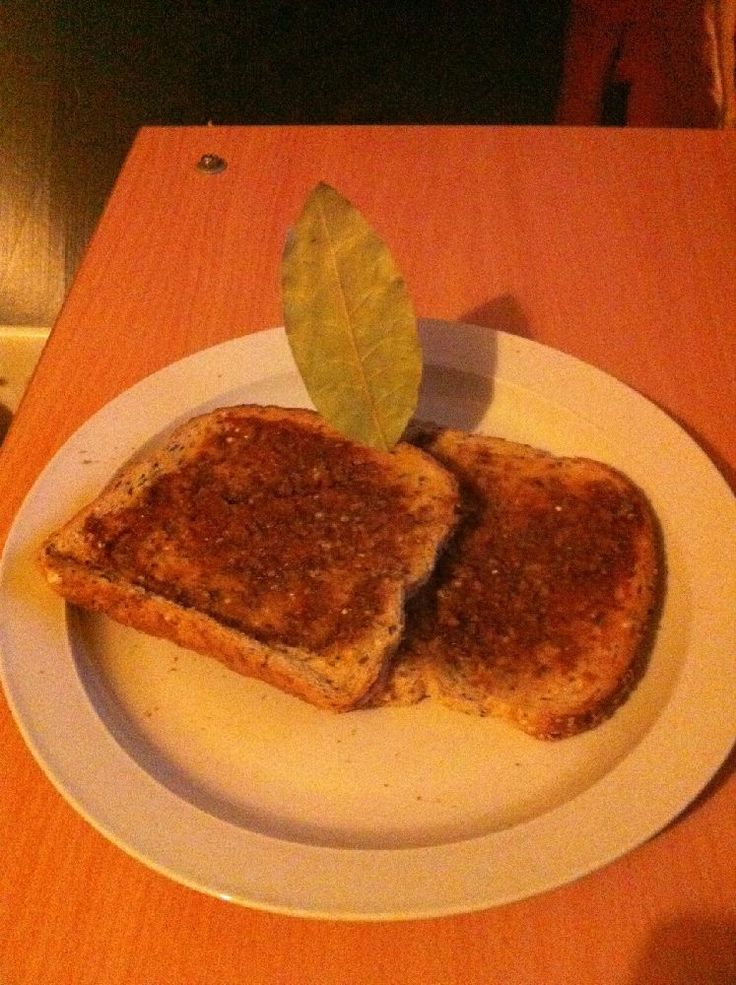 Buttered toast with Marmite, Britain. Ditch the bay leaf and serve with marmalade.