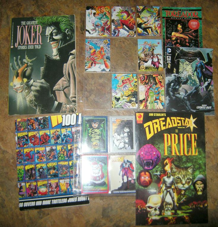 LOT of Comic Graphic Novels, Promo Trading Cards, Wizard Pull-Out Poster