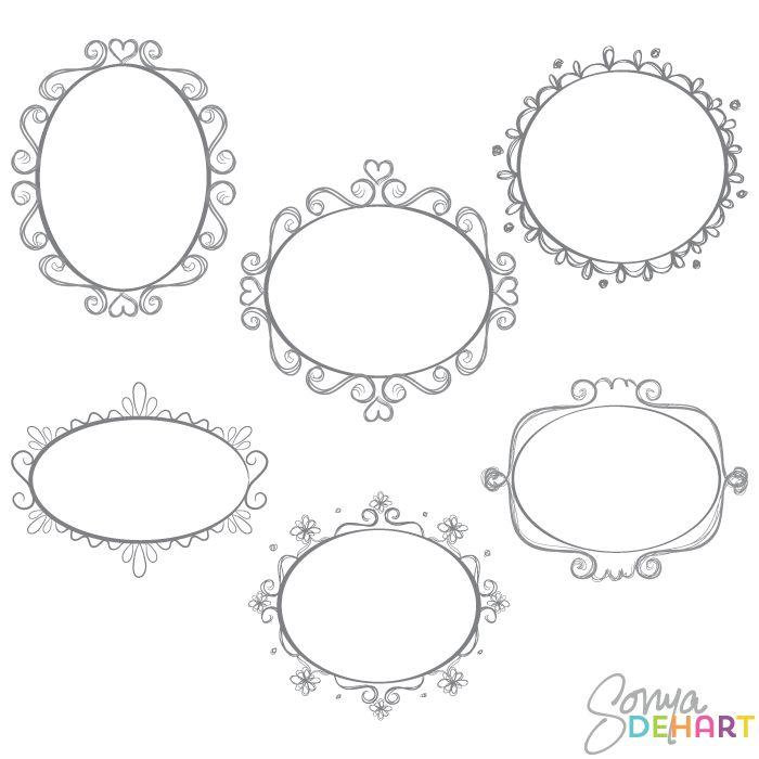clip art oval frames free - photo #47