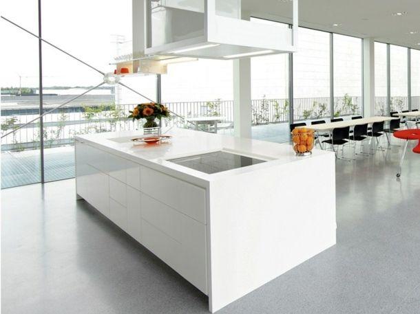 cuisine design en blanc par GetaCore® by Westag & Getalit