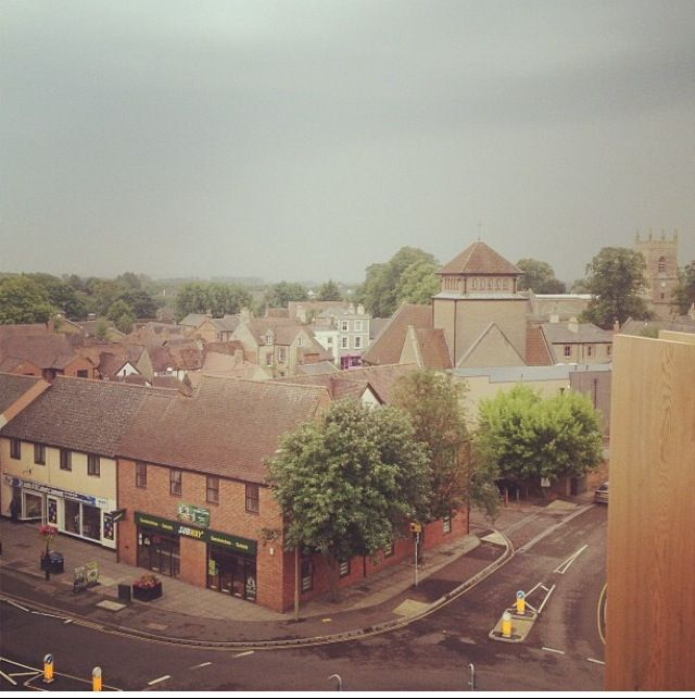 Rooftop view of bicester. Town England photo birdseye