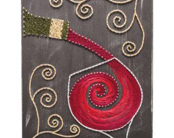 Los amantes del vino nunca pueden tener suficiente arte del vino. Y ahí es donde entra cadena del arte... la introducción de este hermoso y completo-de-único Kit de arte vino cadena!  En menos de un día puede completar este kit DIY manualidades y tiene en exhibición en su hogar u oficina. Perfecto para entusiastas de arte Bar, amantes del vino y arte del vino.  También hace un gran regalo DIY para los artesanos o los amantes del vino saben. Hágalo usted mismo para un amigo.  La cadena arte…