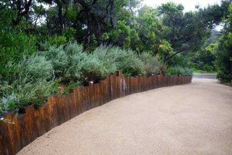 Image result for australian native gardens + bench + path