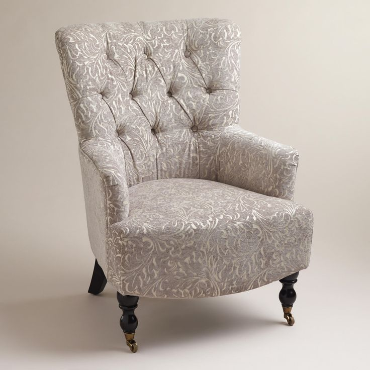 Superior Gray Chenille Nina Chair | World Market