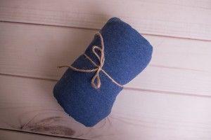 Niebieska elastyczna dzianina 115x150 cm