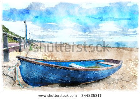 watercolour paintings boats - Google Search