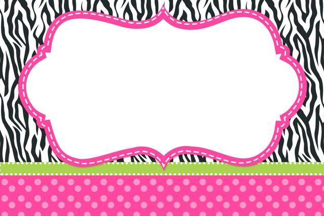 Kit Digital Completo Fundo Zebra e Poá Rosa!                                                                                                                                                      Mais
