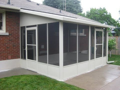 How to Screen in a Porch - Installing a Screen Tight Porch System - YouTube