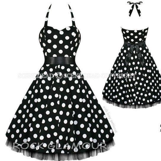 50'sDresses Skirts Black Whit, Polka Dots, Kids Clothing 50S, Rockabilly Style, Fashion Vintage, Pin Up Looks, Little Black Dresses, 50S Kids Fashion, 50S Dresses