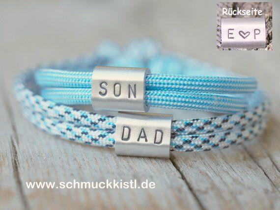 Vater Sohn Armbänder Kinderarmband Mit Gravur Jubiläum
