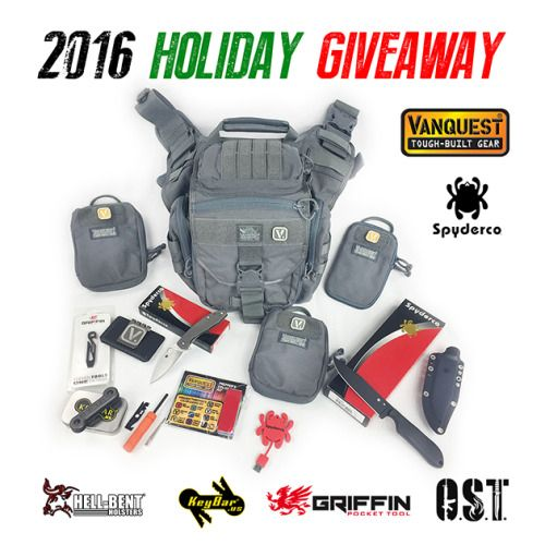 Vanquest 2016 Christmas EDC Gear Giveaway (Spyderco KeyBar... sweepstakes IFTTT reddit giveaways freebies contests