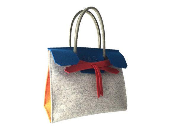 ArtAK KUNST Travel bag. Designer wool felt bag. Made to by ArtAK