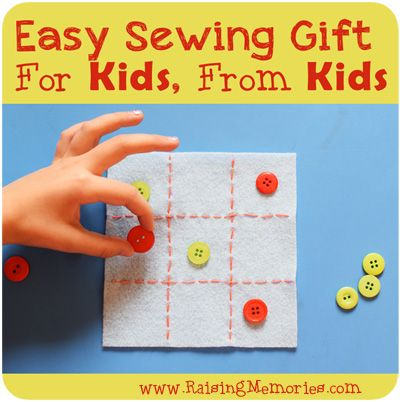 How to Make a Tic-Tac-Toe Game!  An easy sewing project for kids.  A gift your kids can make for other kids.  Tutorial by www.RaisingMemories.com