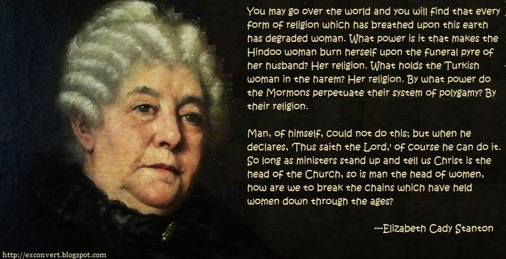 Elizabeth Cady Stanton Quotes - Yahoo Image Search Results