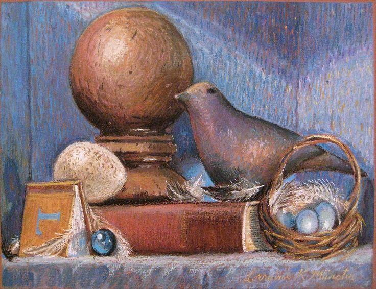 Robin's Egg Blues, 2012 pastel on paper by Lorraine Krahn Muenster