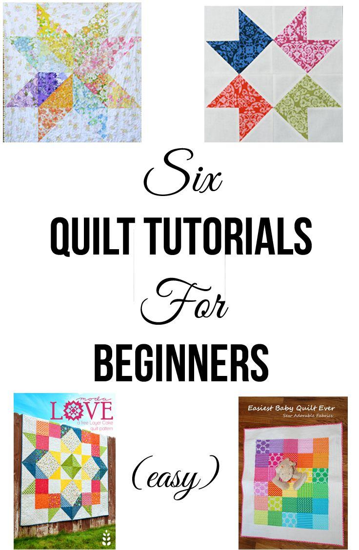 Six Quilt Tutorials for Beginners