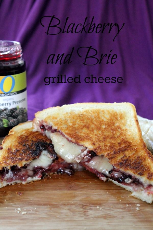 Blackberry & Brie Grilled Cheese